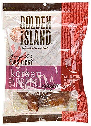 Golden Island Fire Grilled Pork Jerky Korean Barbecue Receipe – 14.5 Oz