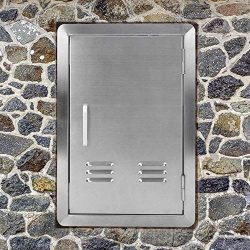 Outdoor Kitchen Door BBQ Access Door with Vents 17 inch Width x 24 inch Height – Stainless ...