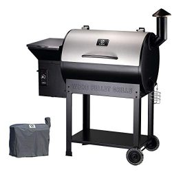 Z GRILLS Pellet Grill and Outdoor Smoker New Model with Stainless Steel Lid (Patio Cover Gift)