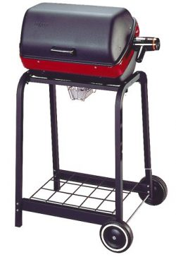 Easy Street Electric Cart Grill with wire shelf