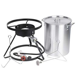 Backyard Pro Weekend Series 30 Qt. Turkey Fryer Kit with Aluminum Stock Pot and Accessories R ...