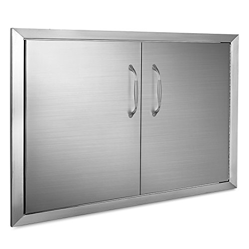 Mophorn Outdoor Kitchen Access Door 34″ x 19″ Double Wall Construction Stainless Ste ...