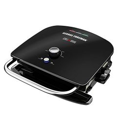 George Foreman GBR5750SBLQ Broil 7-in-1 Electric Indoor Grill, Broiler, Panini Press, and Waffle ...
