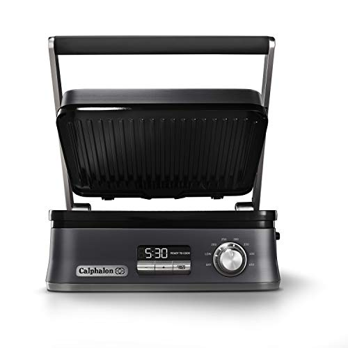 indoor kitchen grill barbecue calphalon even sear indoor electric multigrill dark stainless steel