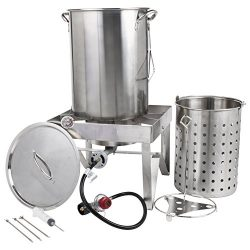 Backyard Pro All-in-One Kit All Stainless Steel 30Qt. Turkey Fryer Kit/Steamer Kit – 55,00 ...