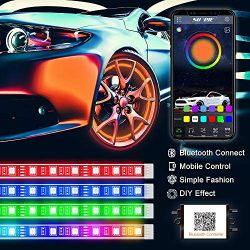 PROAUTO Flexible LED Strip Interior Lighting Glow Lighting Kit Wheel Well LED Light Kit Inside L ...