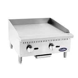 Cook Rite ATMG-24 Commercial Griddle Heavy Duty Manual Flat Top Restaurant Griddle Stainless Ste ...