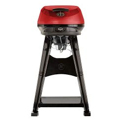 Masterbuilt MEG 335S 1650 Watt Outdoor Digital Electric Grill w/Wheels, Red
