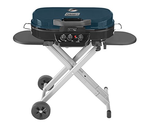Coleman RoadTrip 285 Portable Stand-Up Propane Grill, Blue