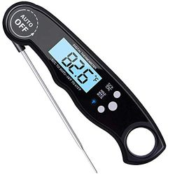 Digital Instant Read Meat Thermometer, Waterproof, Ultra Fast, with Backlight & Calibration, ...