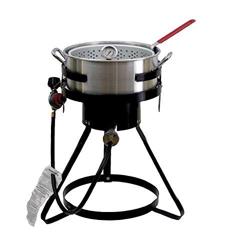 Chard 50,000 BTU 10.5 Qt Propane Outdoor Deep Fryer! Aluminum Fish Gas Cooker