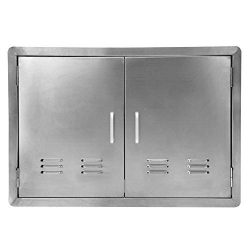 Seeutek Outdoor Kitchen Door BBQ Access Door with Vents 31 inch Width x 24 inch Height – S ...