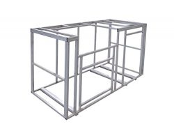 Cal Flame KD-F6002 6′ Outdoor Kitchen Island Frame Kit DIY (7'' Wide X 20'' DEEP X 47'' Ta ...