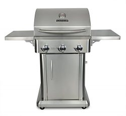 Chef's Grill RT2417S-1 3-Burner 36000-BTU Liquid-Propane Gas Grill, Stainless Steel, 552 s ...