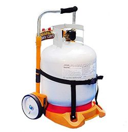 Propane Tank Carrier Cylinder Dolly Easy Cart for Tanks, Heaters, Torches and BBQ Grills (Tank N ...
