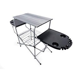 Camco Deluxe Folding Grilling Plastic Side Tables (57295)