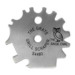Stainless Steel BBQ Grill Scraper – Safer Than A Wire Brush for Cleaning Your Barbecue Gra ...