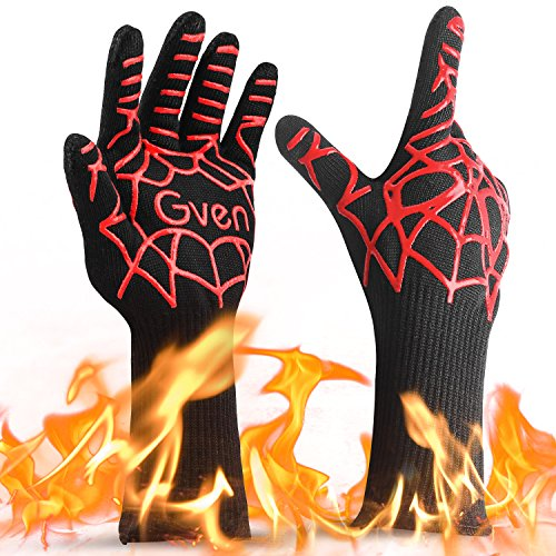 Bbq Gloves Extreme Heat Resistant 932 F Oven Mitts Bbq Fireplace
