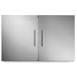 Mophorn Outdoor Kitchen Access Door 30″x 23″ Double Wall Construction Stainless Stee ...