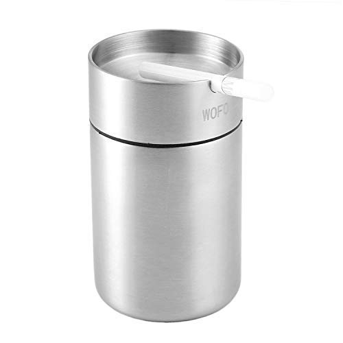 WOFO Ashtray, Stainless Steel Car Ashtrays, Cigarette Ashtray for Car or Outdoor Use, Ash Holder ...