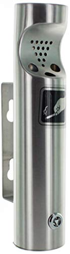ELITRA Wall Mounted Outdoor Cigarette Butt Receptacle, Silver