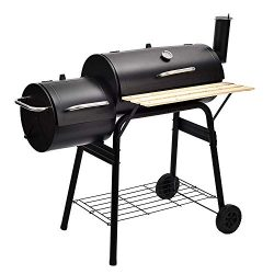 SUNCOO BBQ Charcoal Grill Offset Smoker Barbecue Outdoor Picnic, Camping, Patio Backyard Cooking ...