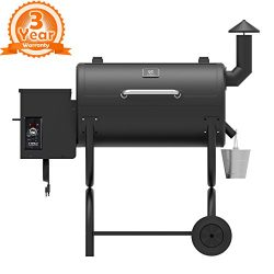 Z GRILLS ZPG-550B Wood Pellet Grill & Smoker 7 in 1 BBQ Auto Temperature Control, 550 sq Inc ...