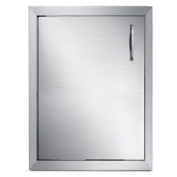 Mophorn Outdoor Kitchen Access Door 16″x 22″ Single Wall Construction Stainless Stee ...