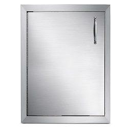Mophorn Outdoor Kitchen Access Door 16″x 22″ Single Wall Construction Stainless Stee ...