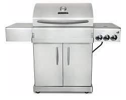 Chef's Grill IR2818-1 61500 BTU Two Infrared Ceramic Burners LP Grill with Side Burner