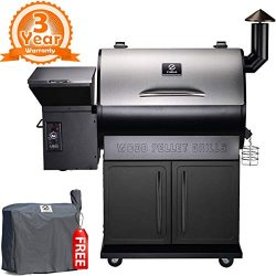 Z GRILLS 2019 Deluxe Wood Fired Pellet Outdoor 8 in 1 BBQ Smokers/Elite Wood Pellet Grill with S ...