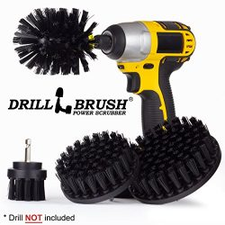 BBQ Grill Cleaning Ultra Stiff Drill Powered Cleaning Brushes 4 Piece Kit Replaces Wire Brushes  ...