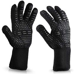 Mnyycxen Extreme Heat Resistant Gloves, BBQ Gloves, Hot Oven Mitts, Charcoal Grill, Smoking, Bar ...