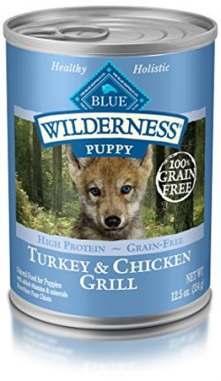 Blue Buffalo Wilderness High Protein Grain Free, Natural Puppy Wet Dog Food, Turkey & Chicke ...