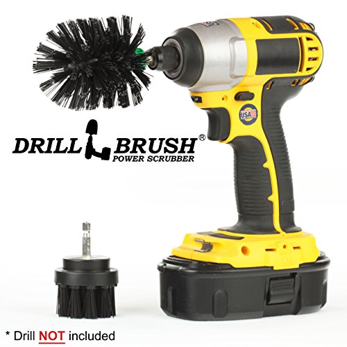Drillbrush BBQ Grill Cleaning 2 Piece Mini Size Black Ultra Stiff Rotary Cleaning Drill Brushes  ...
