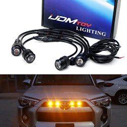 iJDMTOY 4pc Raptor Style 3W High Power LED Grille Lighting Kit For Toyota FJ Cruiser 4Runner Tac ...