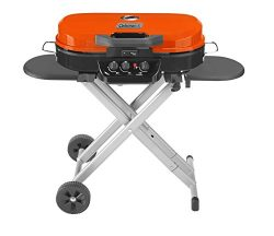 Coleman RoadTrip 285 Portable Stand-Up Propane Grill, Orange