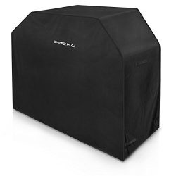 SHINE HAI 64-Inch BBQ Grill Cover, Waterproof 600D Heavy Duty Gas Grill Cover for Weber Brinkman ...