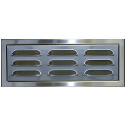Stainless Steel Magnetic BBQ Island Vent Panel with 1 1/4″ Raised Frame for Masonry Applic ...