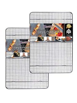 Cooling, Roasting & Baking Racks fit Standard Half Sheet Pans – Heavy Duty 304 Stainle ...