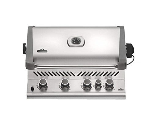 Napoleon Prestige 500 Built-in Natural Gas Grill with Infrared Rear Burner – Bip500rbnss-3 ...