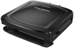George Foreman Rapid Grill Series, 4-Serving Removable Plate Electric Indoor Grill and Panini Pr ...