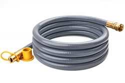 GASPRO 10 Feet 1/2″ ID Natural Gas Hose, Propane Gas Grill Quick Connect/Disconnect Hose A ...