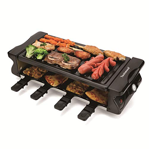 Electric BBQ Grill, Raclette Grill, Techwood Table Grill with Adjustable Temperature Control, No ...