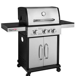Royal Gourmet GG3302S 3-Burner Cabinet Liquid Propane Gas Grill with Side Burner, 45,000 BTU, Ou ...