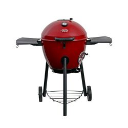 Char-Griller E14822 Premium Kettle Charcoal Grill & Smoker, Red