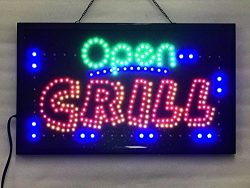 UPSUN Neon Sign OPEN,LED business open sign advertisement board Electric Display Sign, Two Modes ...