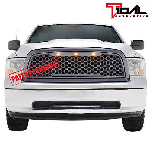 Raptor Style Upper Replacement Grille w/LED Amber Lighting for 09-12 Dodge Ram 1500 – Char ...