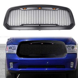 Artudatech Raptor Style – Replacement Mesh Grille w/LED Amber Lighting For Dodge Ram 1500  ...