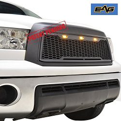 EAG Replacement Tundra ABS Grille – Charcoal Gray – With Amber LED Lights for 10-13  ...